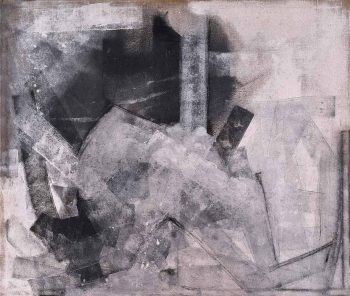 Bez-názvu,-akryl-a-uhel-na-jutě,-2014,-145x170cm
