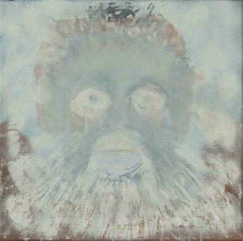 Bílá-opice,-komb.-technika-na-plátně,-40x40cm,-2016