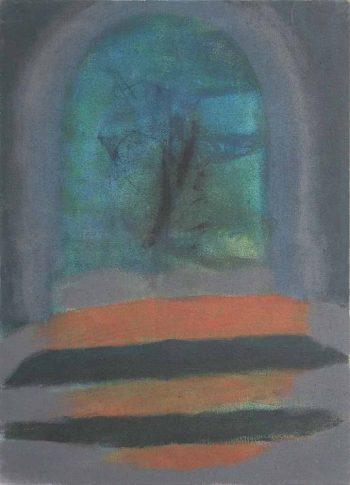 Brána,-akryl-na-jutě,-2013,-145x200cm