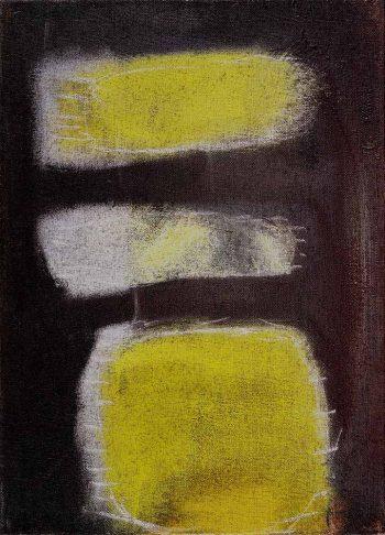 Dětství,-akryl-a-pastel-na-jutě,-2014,-65x90cm